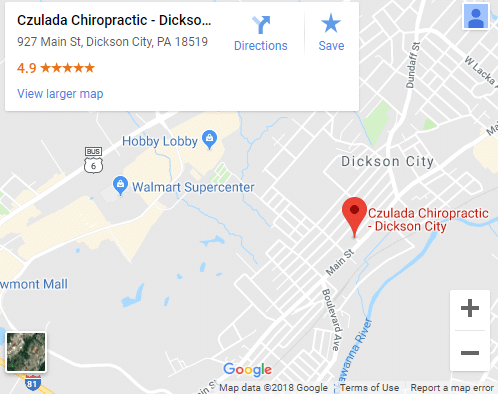 Map of Dickson City Chiropractors