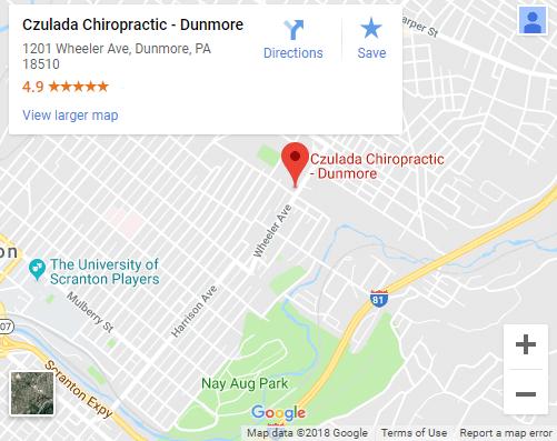 Map of Dunmore Chiropractors